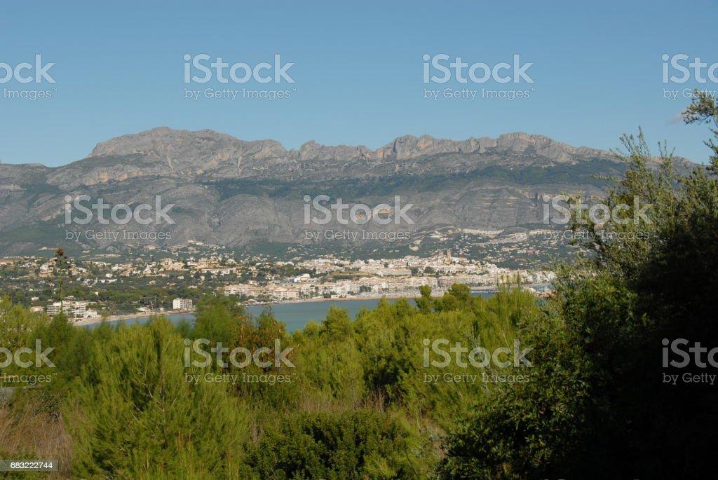 Altea - Skyline - Stadtansichten - Hausfassaden - Costa Blanca - Spanien foto de stock royalty-free