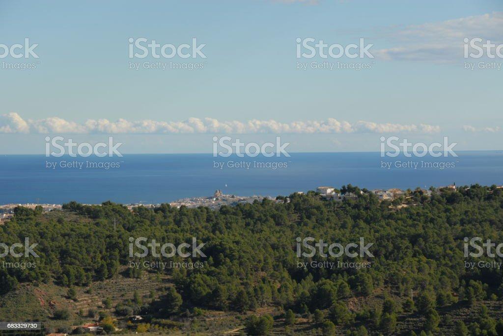 Altea - Skyline - Stadtansichten - Hausfassaden - Costa Blanca - Spanien foto stock royalty-free