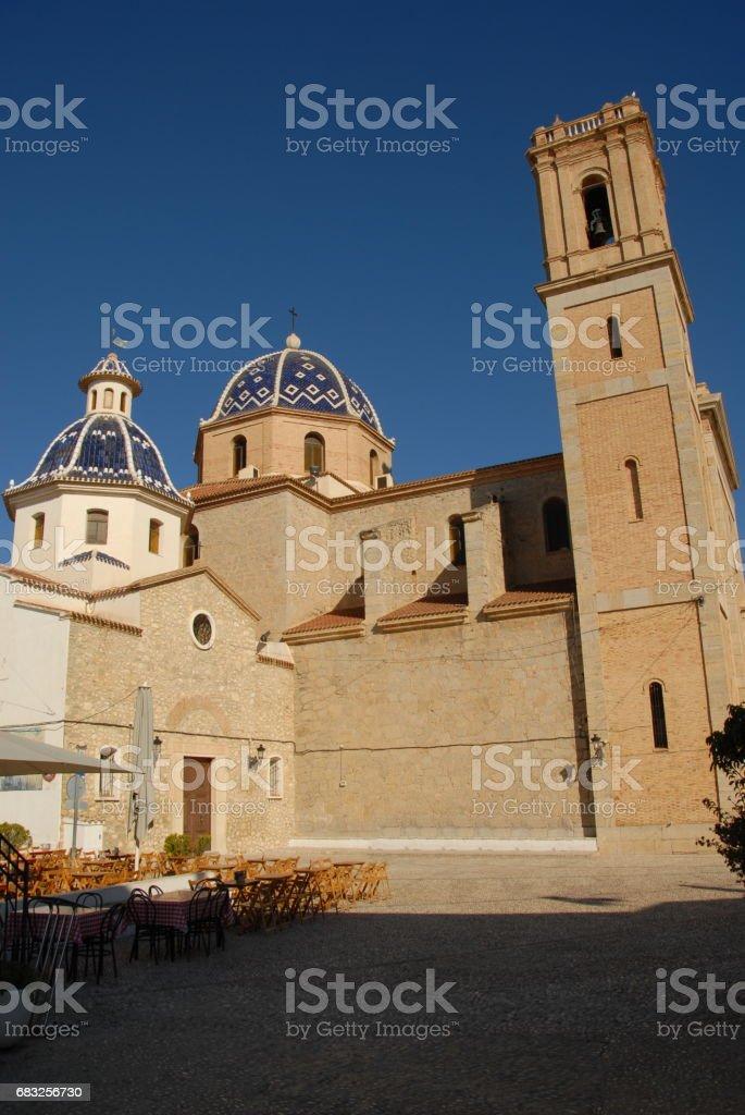 Altea - Stadtansichten - Hausfassaden - Costa Blanca - Spanien Lizenzfreies stock-foto