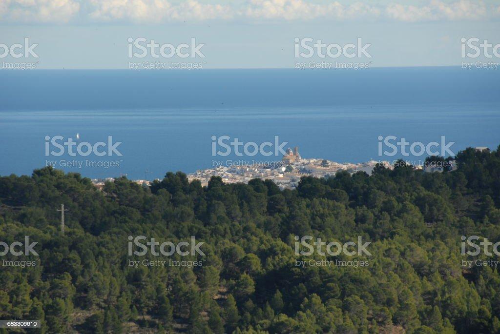 Altea - Stadtansichten - Hausfassaden - Costa Blanca - Spanien royaltyfri bildbanksbilder