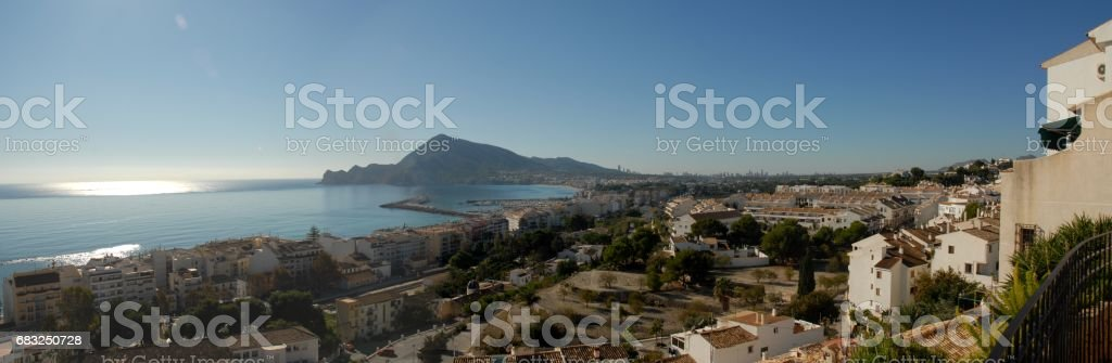Altea/Benidorm - Skyline - Stadtansichten - Hausfassaden - Costa Blanca - Spanien - foto de stock