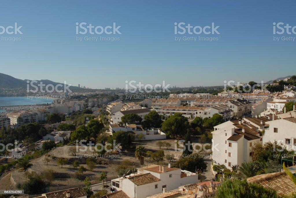 Altea/Benidorm - Skyline - Stadtansichten - Hausfassaden - Costa Blanca - Spanien ロイヤリティフリーストックフォト