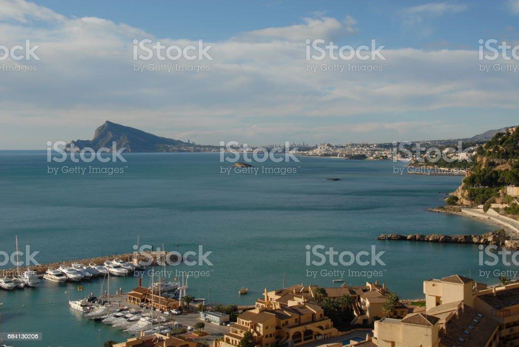 Altea/Benidorm - Skyline - Stadtansichten - Hausfassaden - Costa Blanca - Spanien royalty free stockfoto