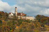Bamberg, Germany - October 20, 2007: Altenburg castle is perched on top of Bamberg's highest hill and is one of Bamberg's major landmarks. It is located in Upper Franconia, a region in the state of Bavaria, and dates back to 1109.