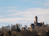 Bamberg, Germany - February 22, 2014: The Altenburg is a medieval hilltop castle near Bamberg in Franconia, Bavaria.In its present dimensions, the castle was built in the early 15th Century.