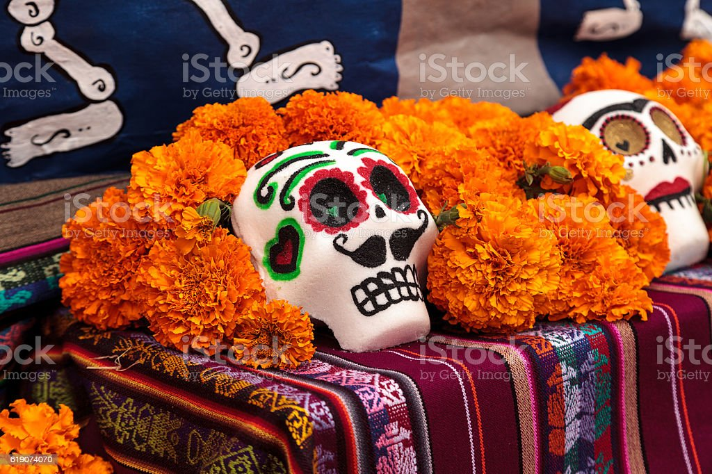 alter at Dia de los Muertos stock photo