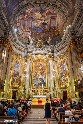 istock Alter in the Church of Saint Ignatius of Loyola 1206869070