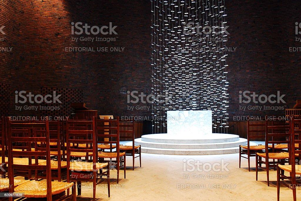 Alter of the Kresge Chapel, MIT stock photo