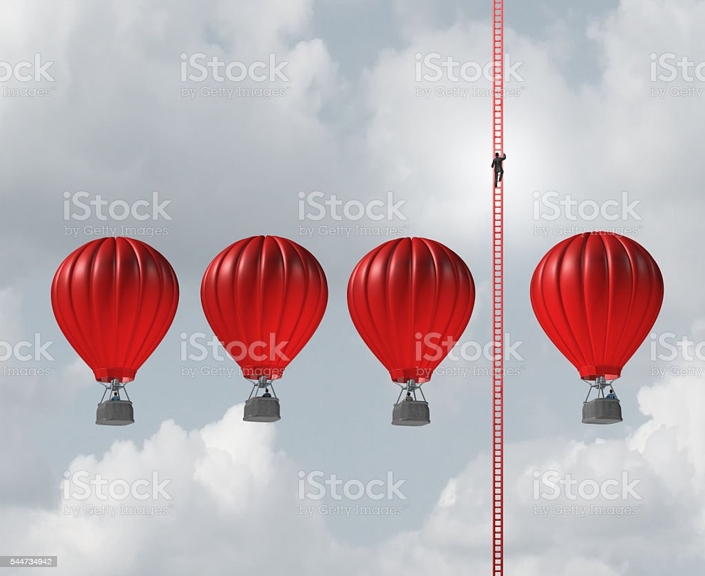 Alternate Business Route stock photo