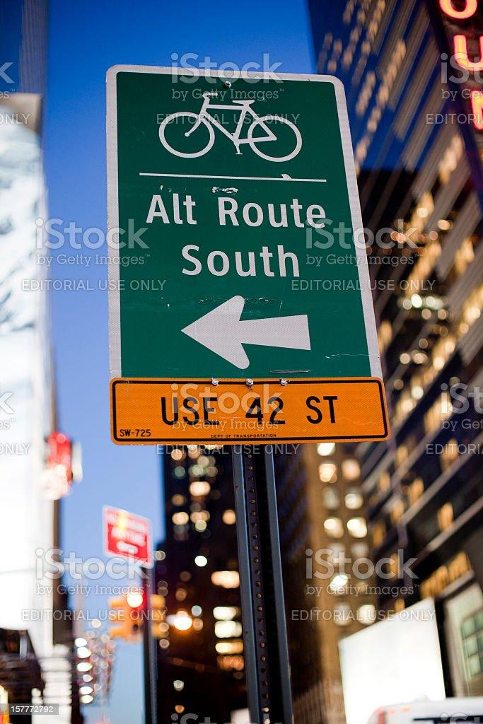 Alternate Route royalty-free stock photo
