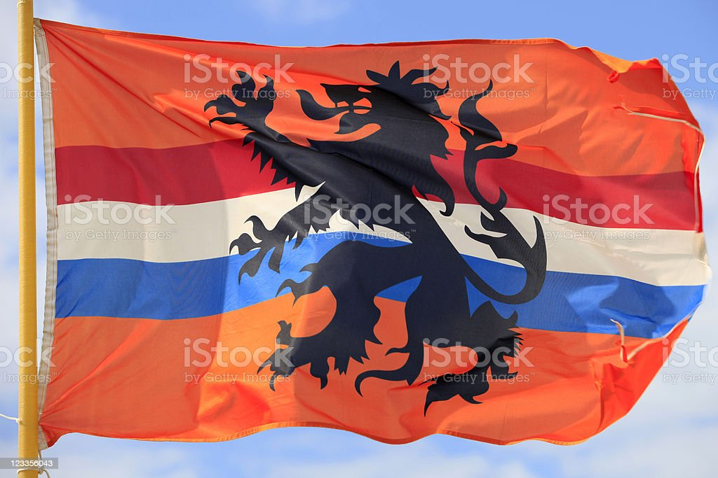 alternative Dutch flag waving in the wind royalty-free stock photo