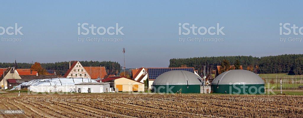alternative energy - biomass plant stock photo
