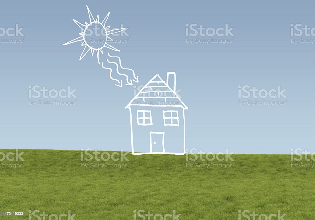 Alternative energy concept stock photo