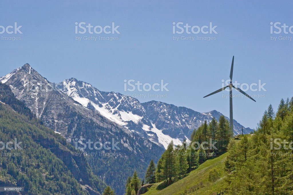 Alternative energy generation stock photo