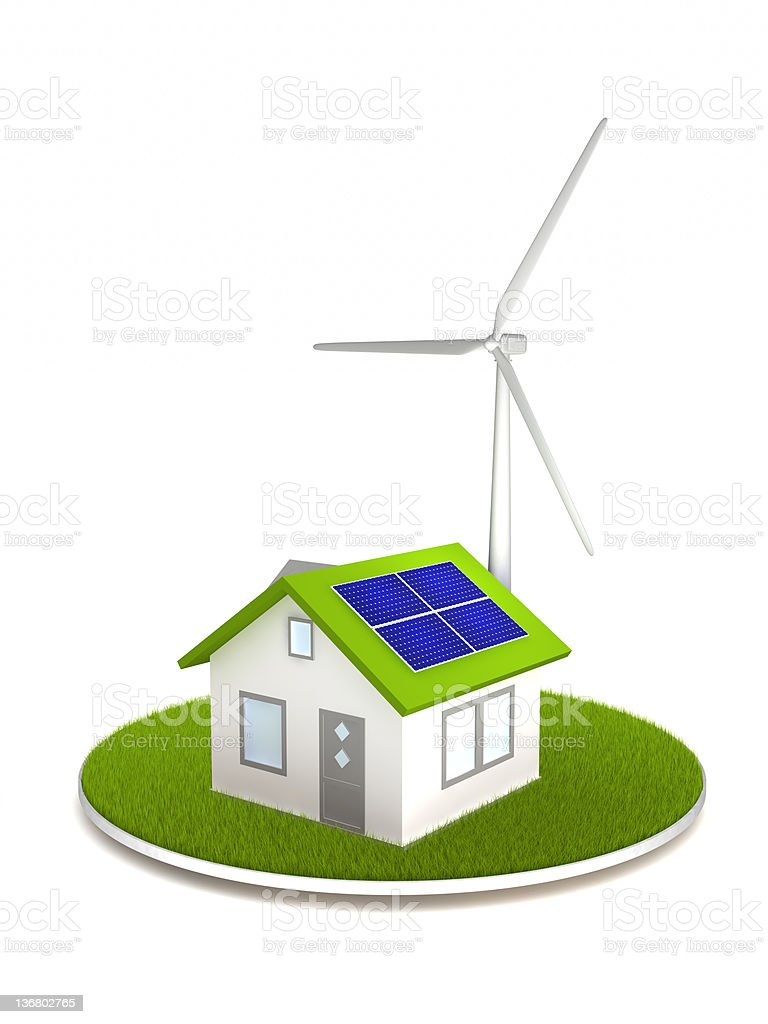Alternative Energy House royalty-free stock photo