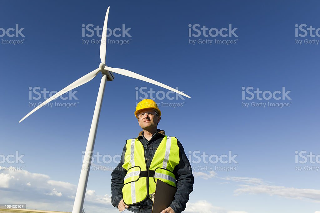 Alternative Energy Inspector royalty-free stock photo