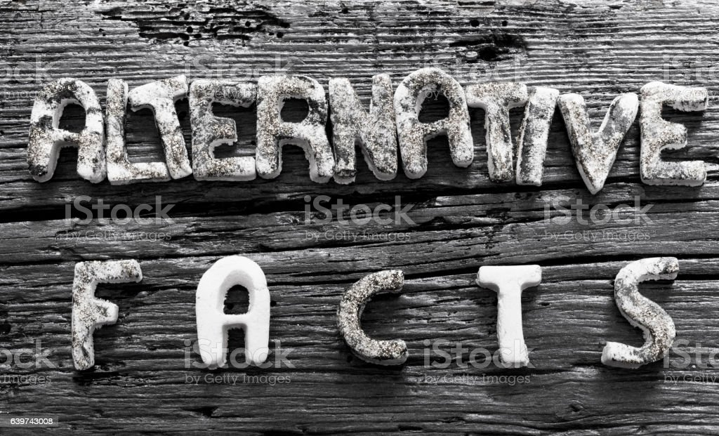 Alternative Facts concept stock photo