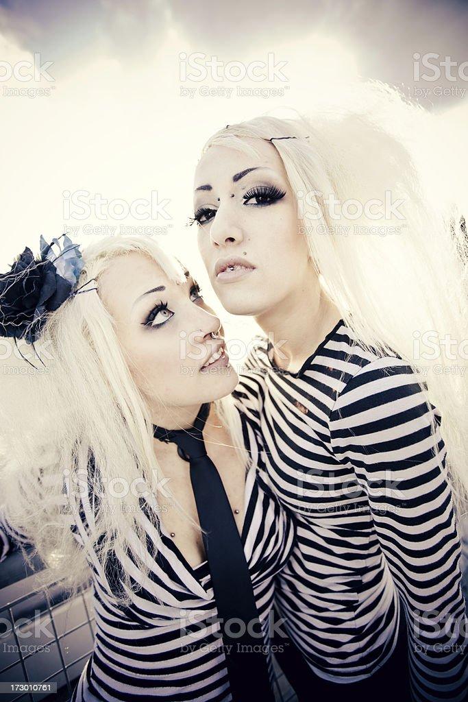 Alternative fashion ladies royalty-free stock photo