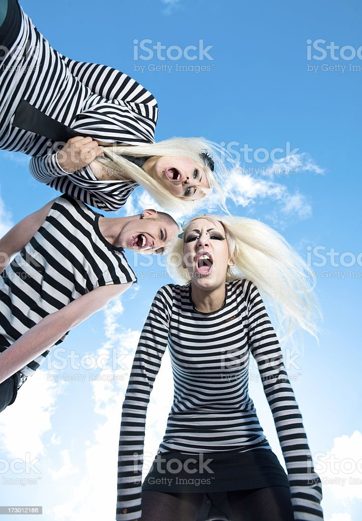 Alternative fashion trio royalty-free stock photo