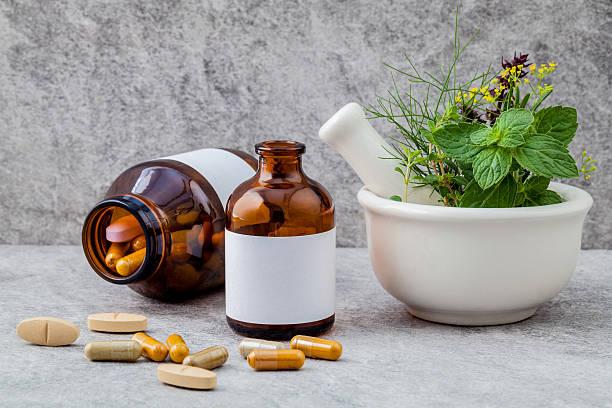 Alternative health care fresh herbs  rosemary ,lemon thyme ,fenn – Foto