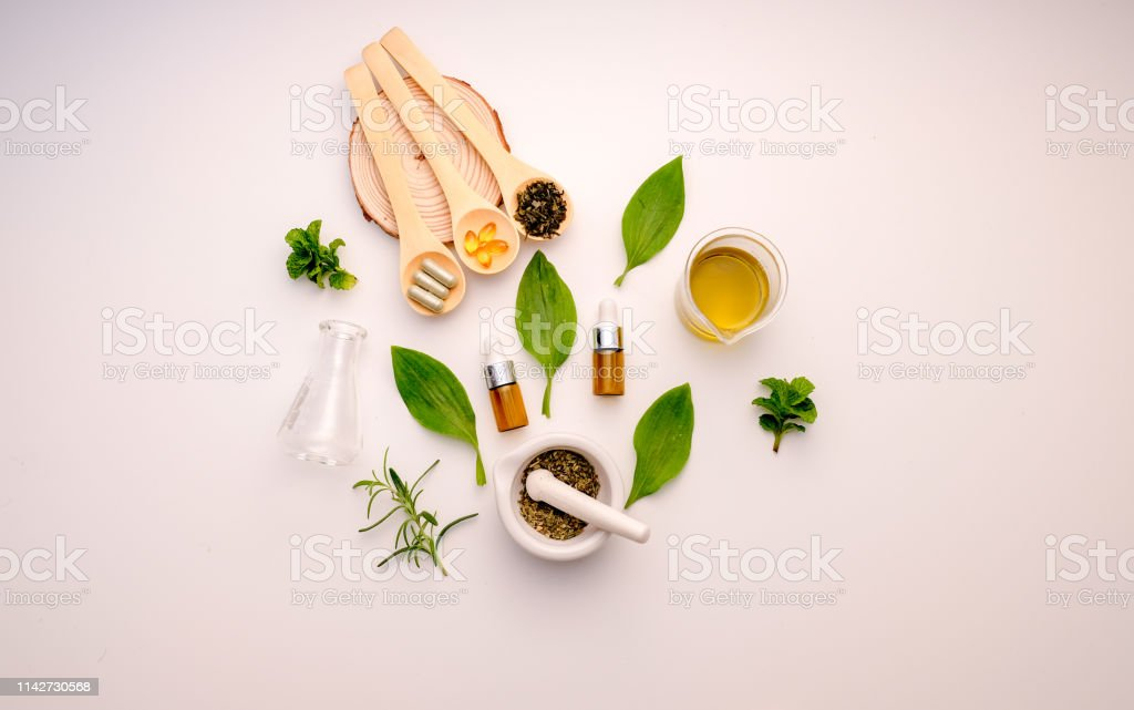 alternative herb medicine with herbal the organic natural in the...