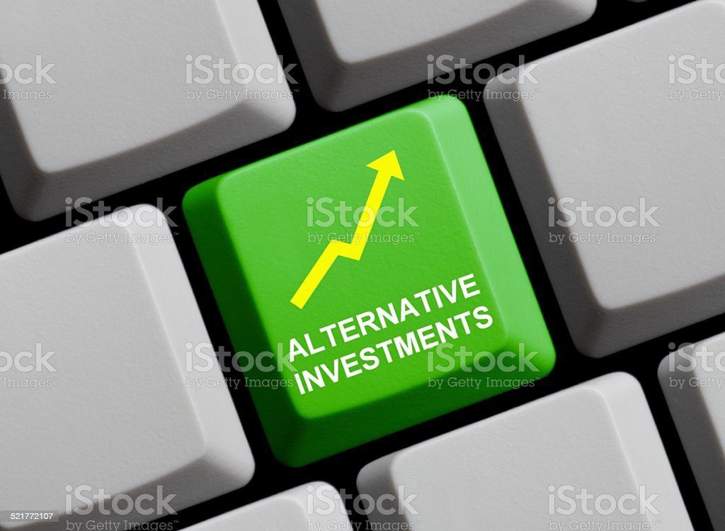 Alternative Investments Alternative Investments Arrow Symbol Stock Photo