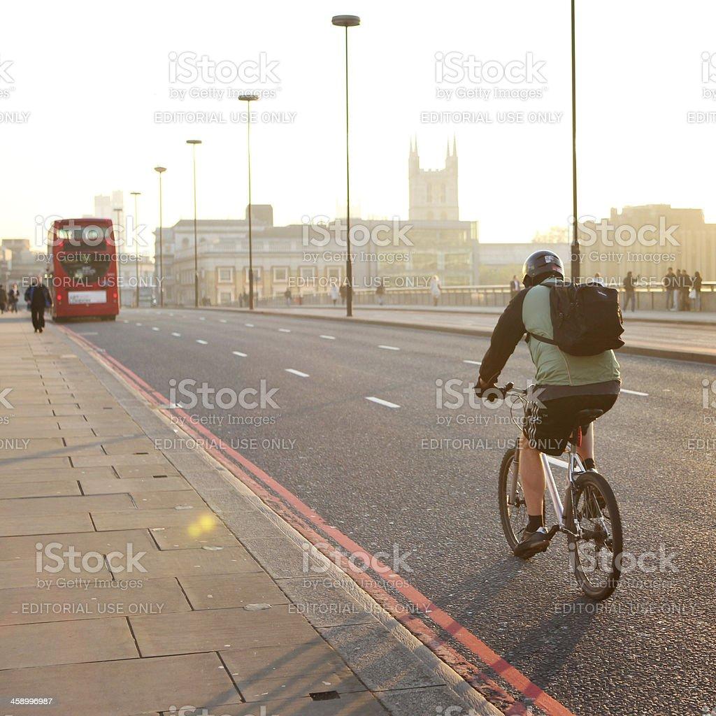Alternative London transport stock photo