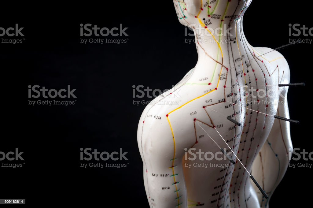 Alternative medicine and east asian healing methods concept stock photo