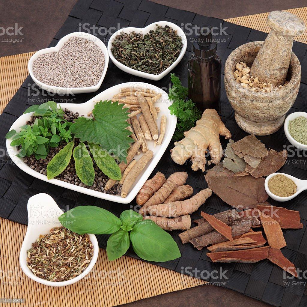 Alternative Medicine for Men stock photo