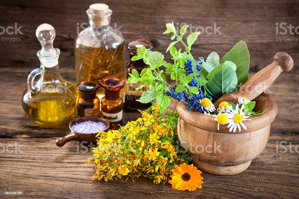 Alternative medicine, Herbal medicine stock photo