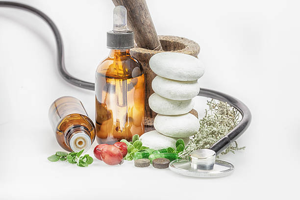 alternative medicine - naturopathy stock photos and pictures