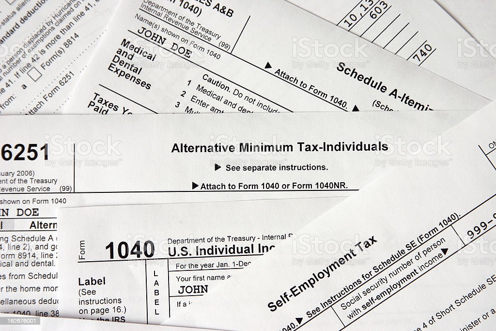 Alternative minimum tax royalty-free stock photo