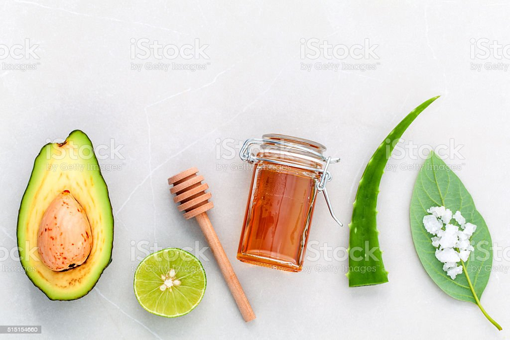 Alternative skin care  and scrub stock photo