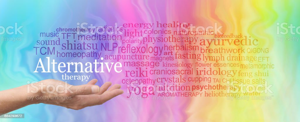 Alternative Therapy Word Cloud stock photo