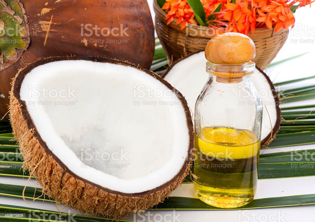 Alternative treatments and therapy using coconut oil royalty-free stock photo