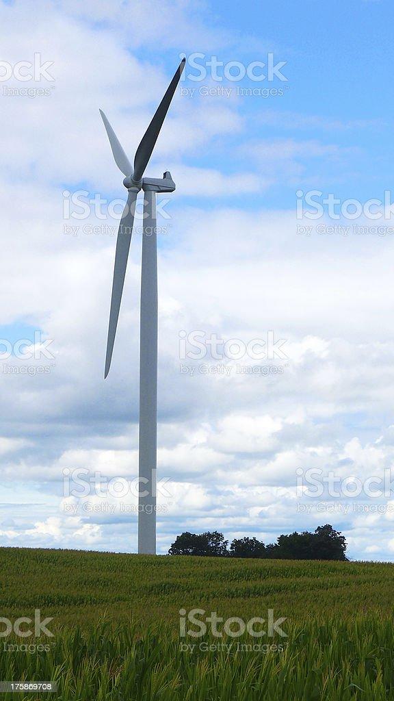 Alternative wind energy royalty-free stock photo