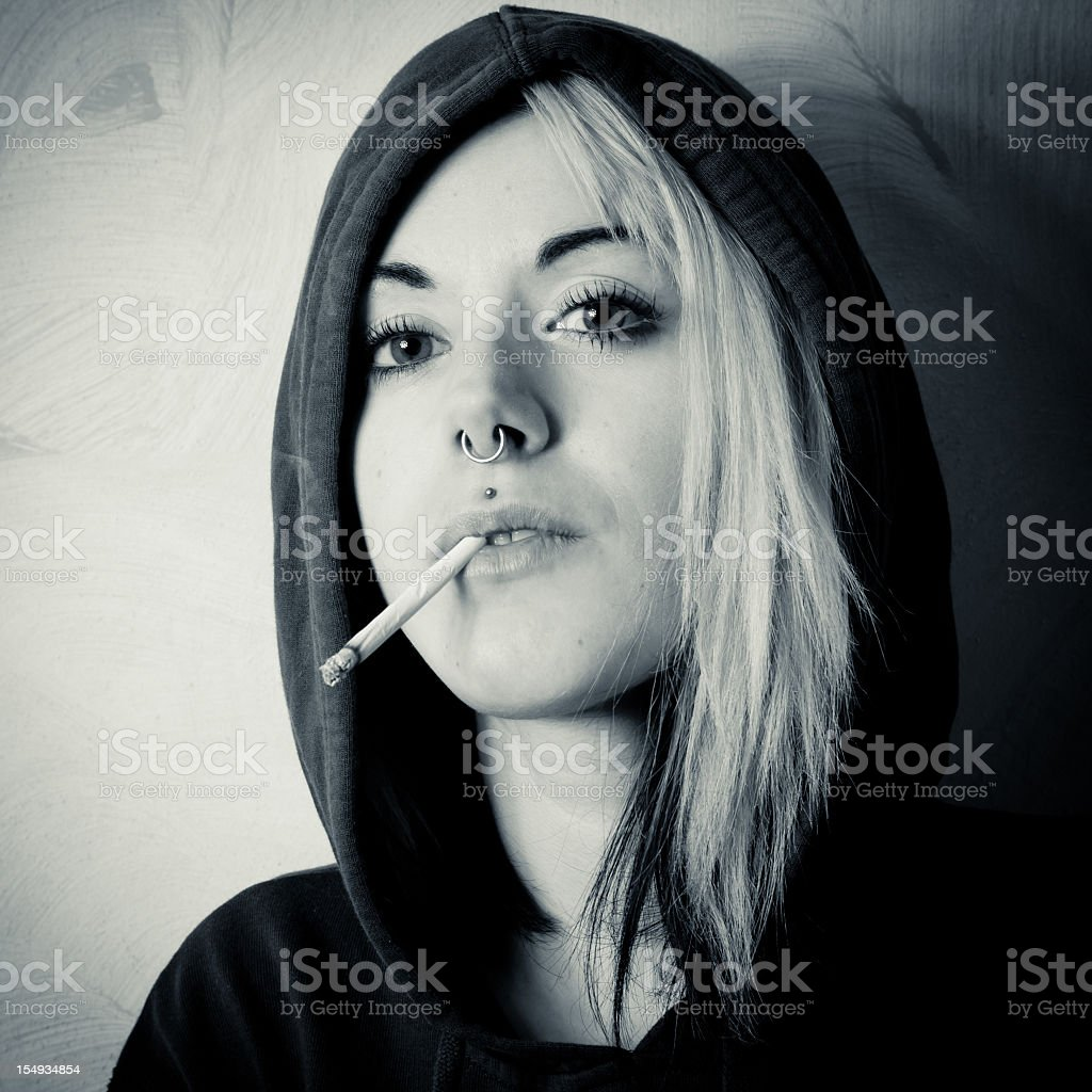 Alternative woman royalty-free stock photo