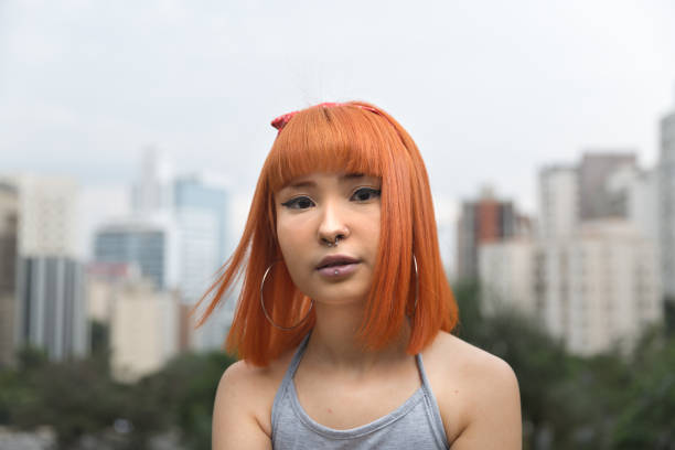 Alternative Young Girl in The City Portrait People portrait generation z stock pictures, royalty-free photos & images