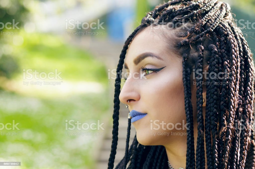 Alternative Young Girl With African Braids Stock Photo More