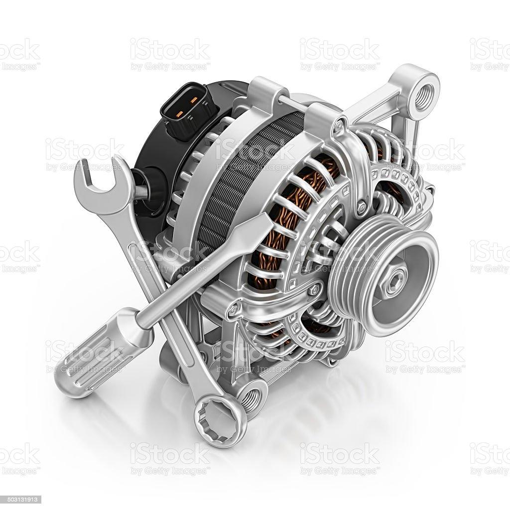 alternator repair stock photo