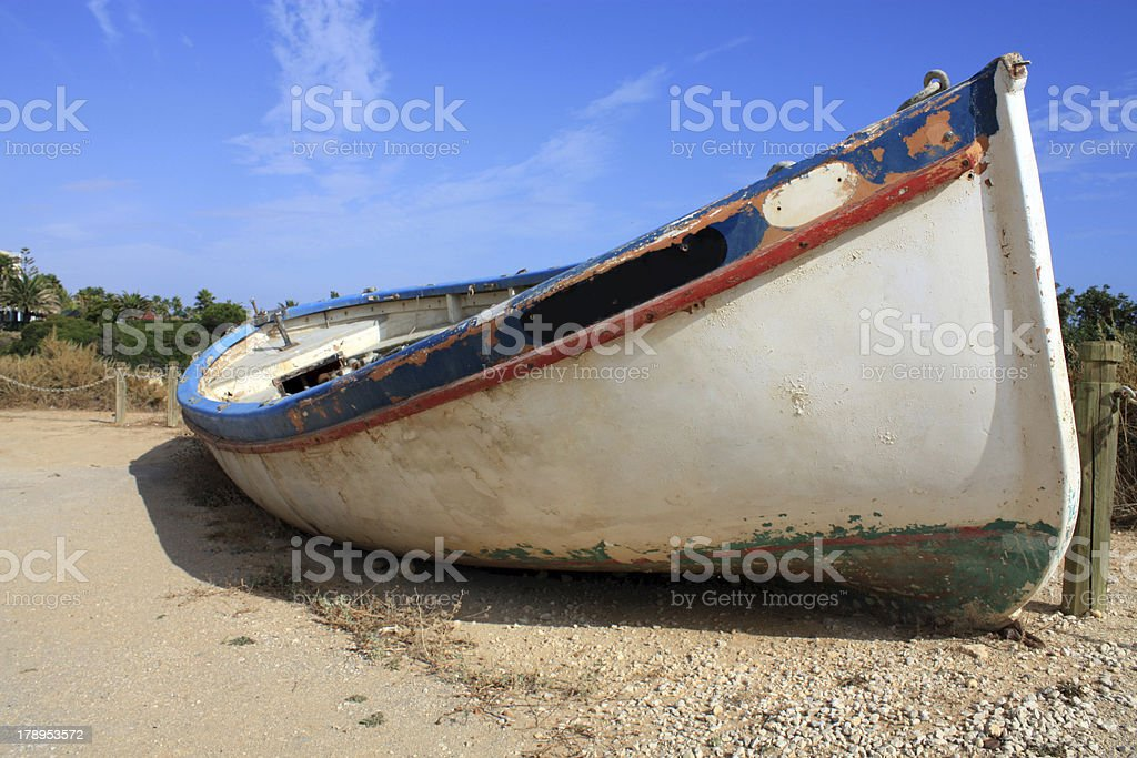 Altes Boot stock photo