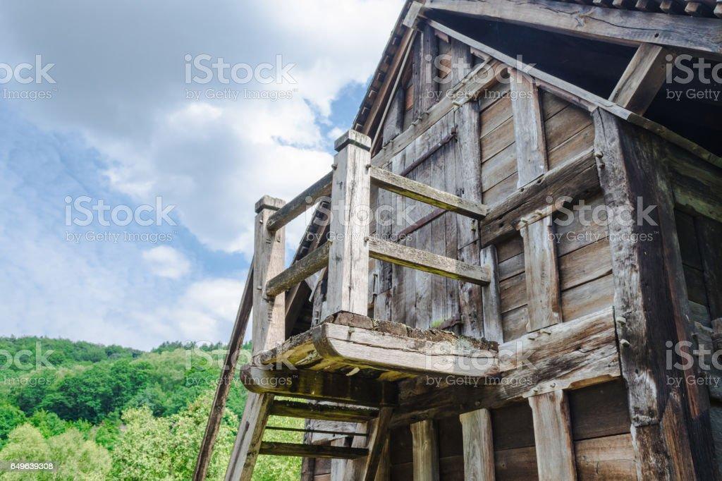 Altes Steinhaus, Berghütte in den Alpen stock photo