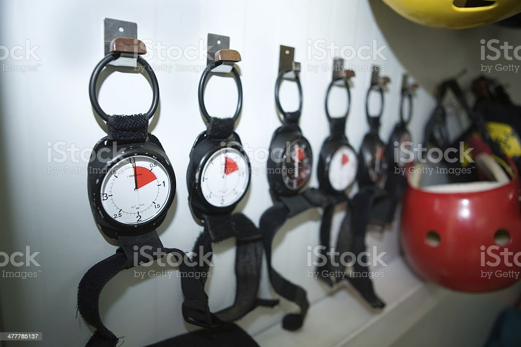 altimeters and helmets royalty-free stock photo