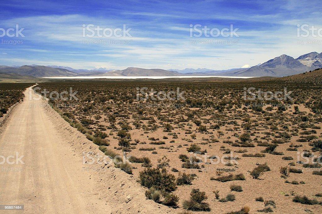 Altiplano Wüste und salt lake in Chile – Foto