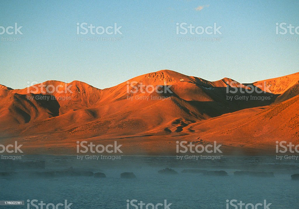 Altiplano in red stock photo