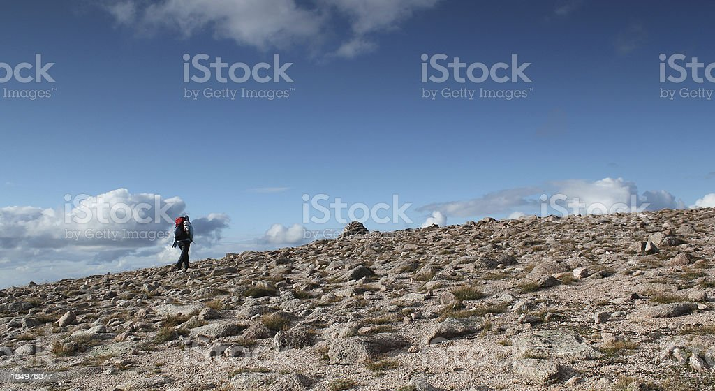 Altitude Hiking royalty-free stock photo
