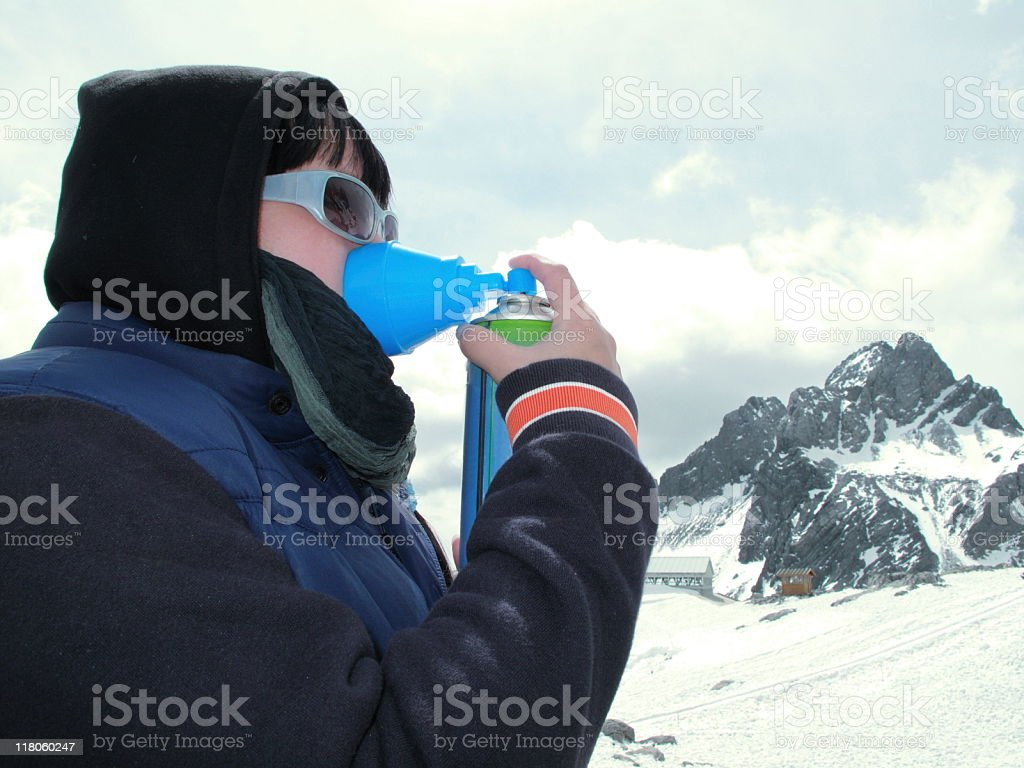 Altitude Sickness (Anoxia) royalty-free stock photo