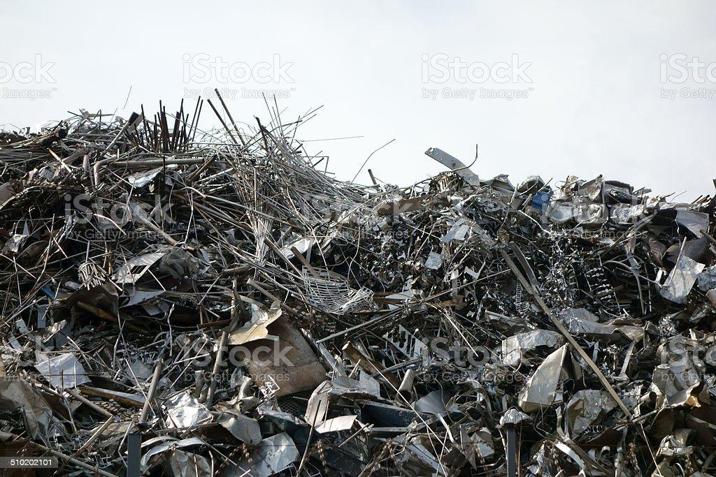 Altmetallberg stock photo