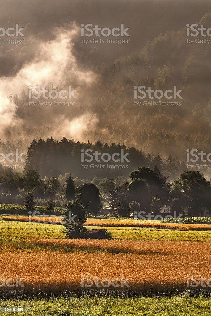Alto adige-al-tramonto - foto stock