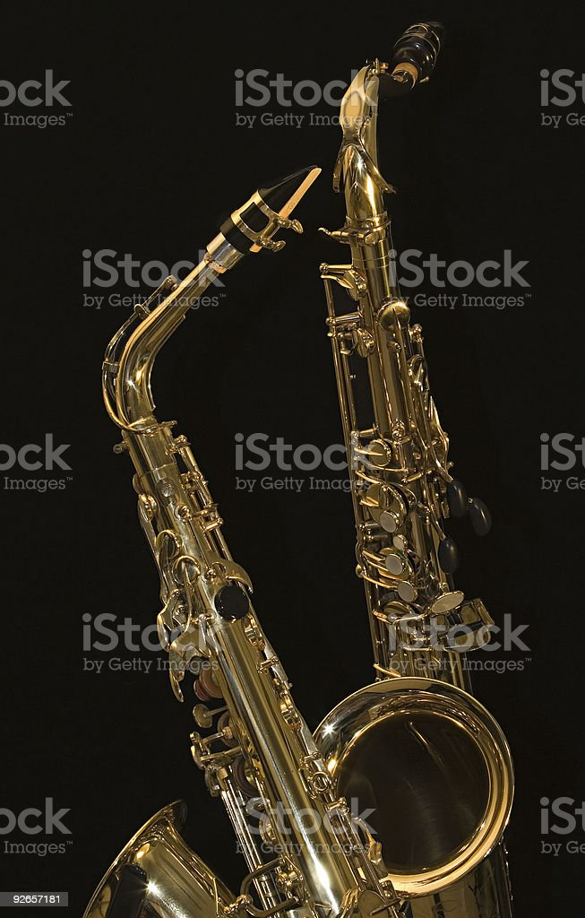 Alto And A Tenor Sax 3 Stock Photo - Download Image Now - iStock